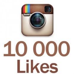 10 000 likes Instagram