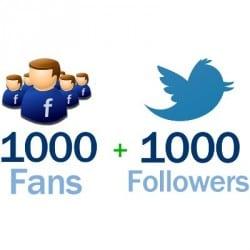 Pack Facebook Twitter 1000